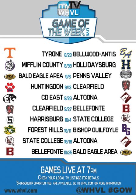 High School Game of the Week | WHVL com